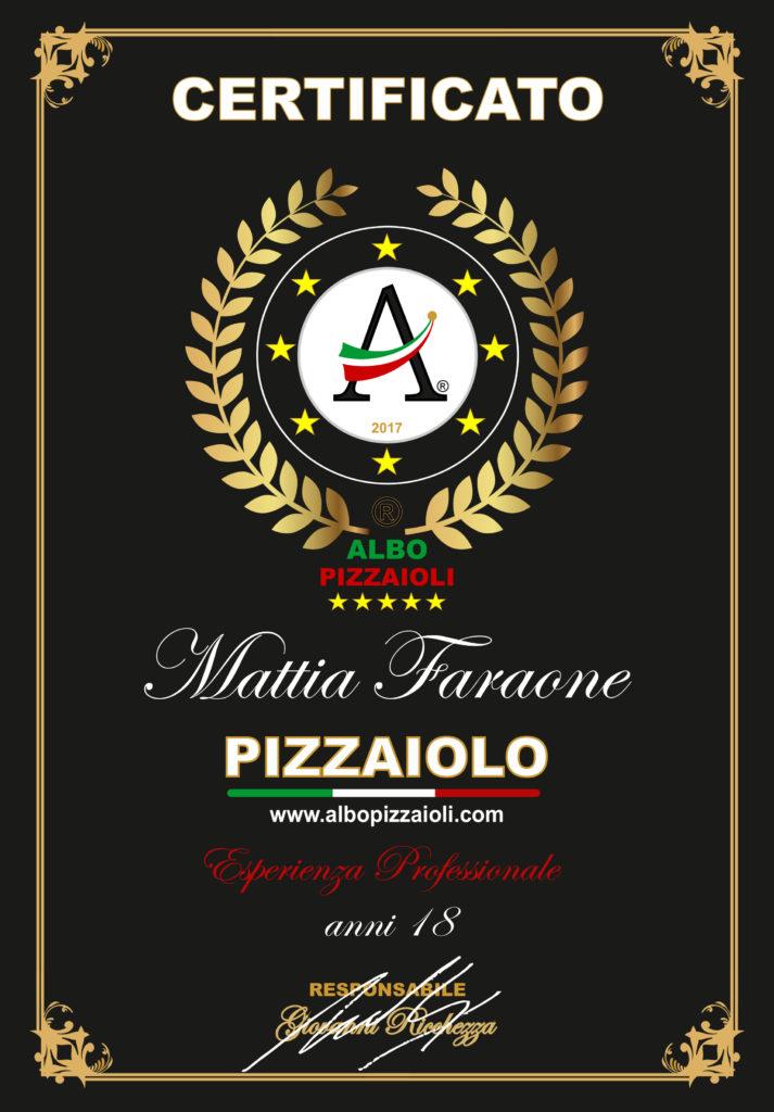 Certificato Mattia Faraone